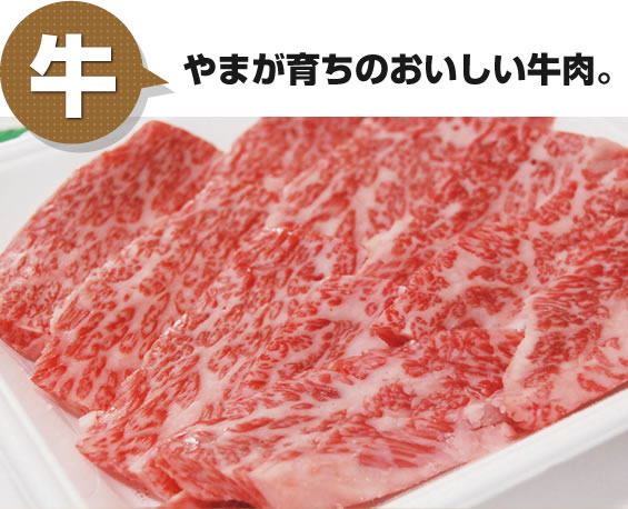 牛 やまが育ちのおいしい牛肉
